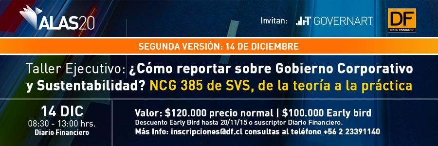 Taller ¿Cómo reportar sobre Gobierno Corporativo y Sustentabilidad?: NCG 385 de SVS, de la teoría a la práctica (Segunda Versión)