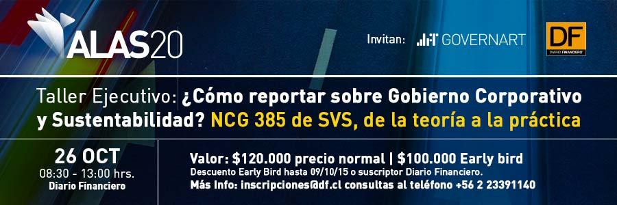 Taller ¿Cómo reportar sobre Gobierno Corporativo y Sustentabilidad?: NCG 385 de SVS, de la teoría a la práctica
