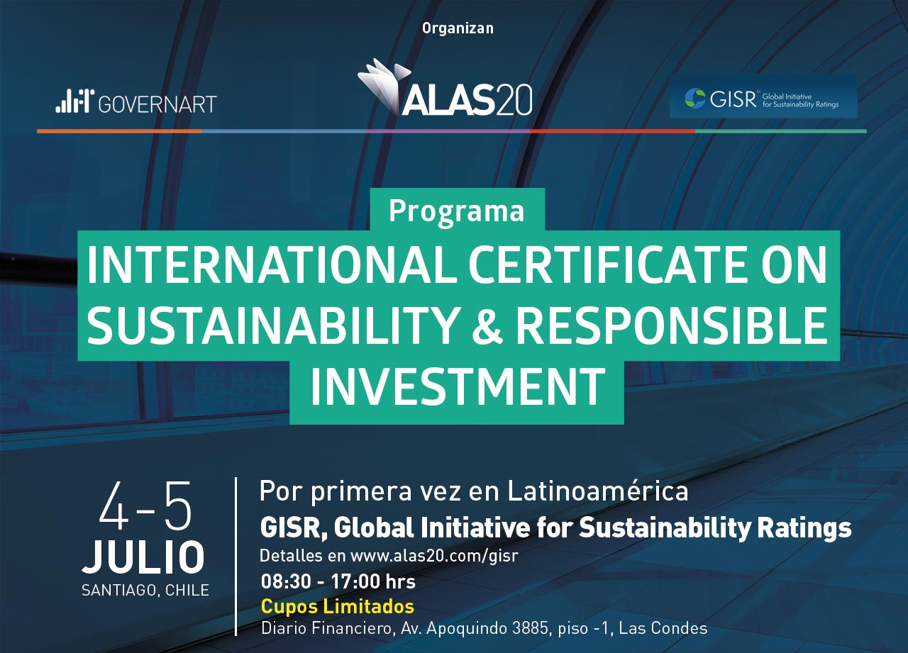 Programa International Certificate on Sustainability & Responsible Investment: Cupos Limitados